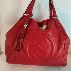 Gucci leather tassel purse